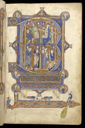 Beatus Page With Scenes From The Life Of Kings David And Solomon, In 'The Grandisson Psalter'